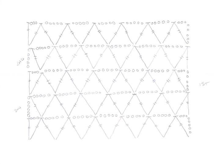 Crochet Diagram: Market Bag Lace Diagram Main Body