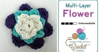 Crochet Multi Layer Flower Pattern