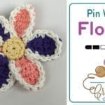 Crochet Pinwheel Flower + Tutorial