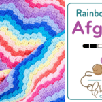 Rainbow Wave Afghan Crochet Pattern