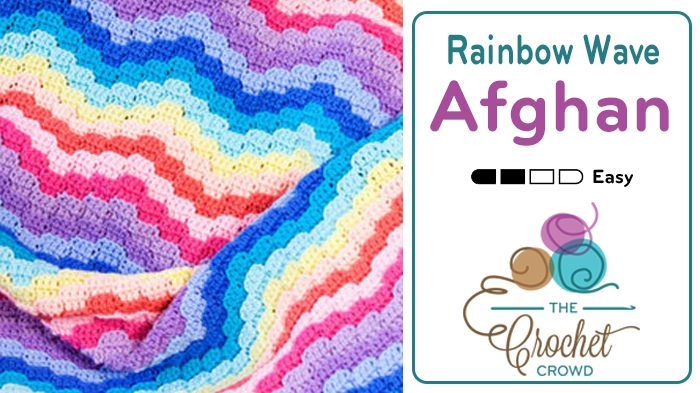 Crochet Rainbow Wave Afghan
