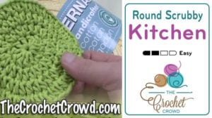 Crochet Double Layered Round Scrubby