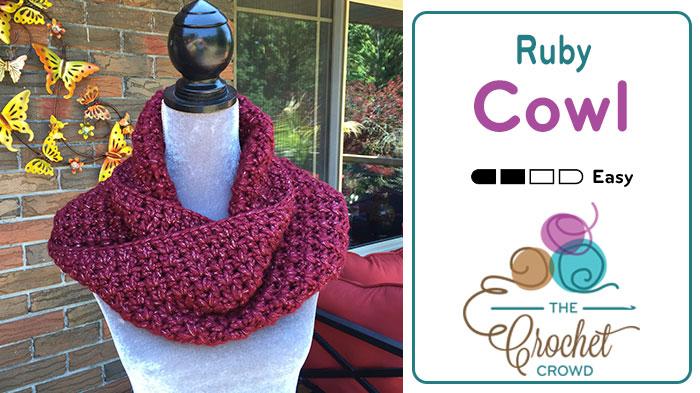 Crochet Ruby Infinity Cowl Pattern