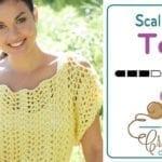 Crochet Scalloped Top + Tutorial