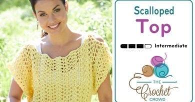 Crochet Scalloped Top
