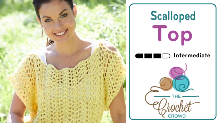 Crochet Scalloped Top Tutorial The Crochet Crowd