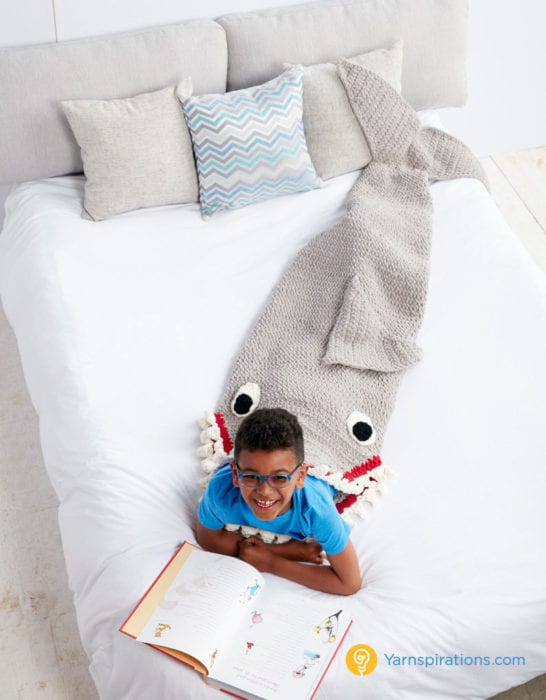 Crochet Shark Sleep and Snuggle Sack