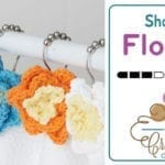 Crochet Shower Flowers + Tutorial