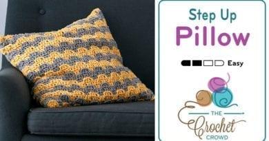 Crochet Step Up Pillow Pattern