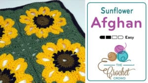 Crochet Sunflower Throw