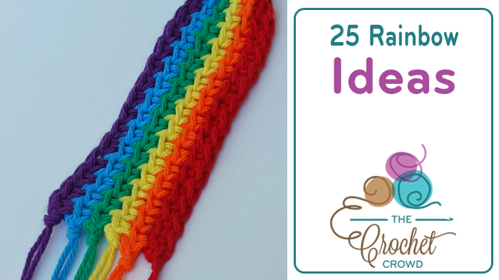 crocheted rainbow