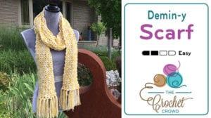 Easy Wool Blend Crochet Scarf
