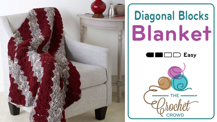 Crochet Diagonal Blocks Blanket