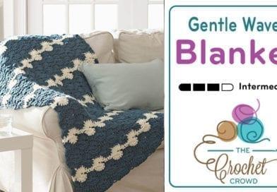 Crochet Gentle Waves Blanket + Tutorial