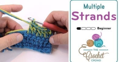 How to Crochet Using Multiple Yarn Strands