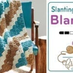 Crochet Corner to Corner Slanting Stripes Blanket + Tutorial