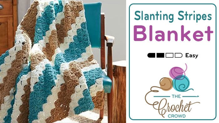 Crochet Slanting Stripes Blanket Pattern