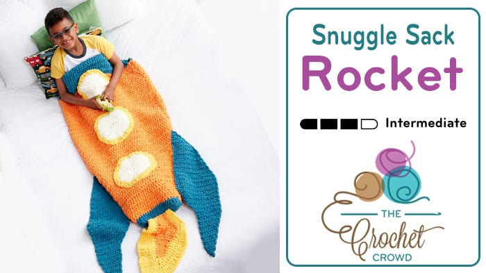 Crochet Rocket Snuggle Sack Pattern