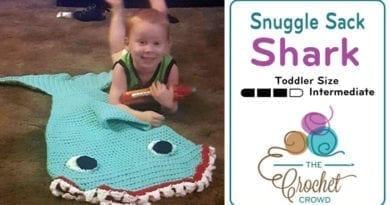 Crochet Snuggle Sack Shark for Toddlers