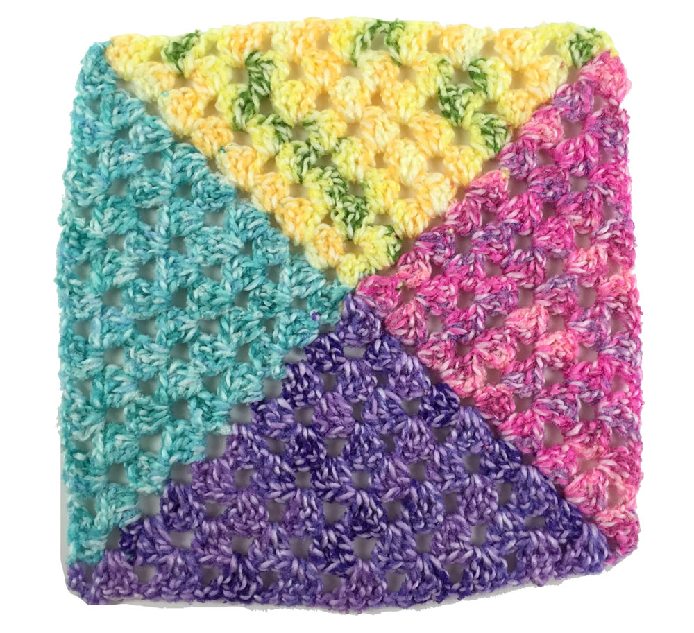 Crochet 4 Colour Granny Square Afghans + Tutorial - The ...