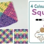 Crochet 4 Colour Granny Square Afghans + Tutorial
