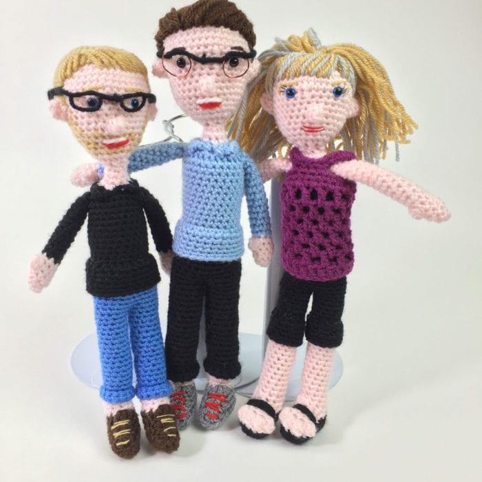 Crochet People: Mikey, Diva Dan and Jeanne of The Crochet Crowd