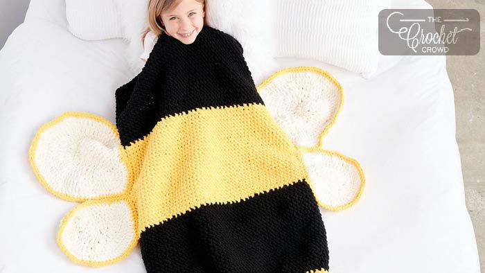 Crochet Bee Snuggle Sack