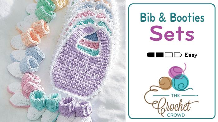 Crochet Bib and Booties Sets Pattern