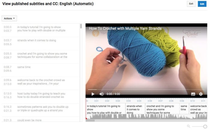 Closed Captioning for The Crochet Crowd
