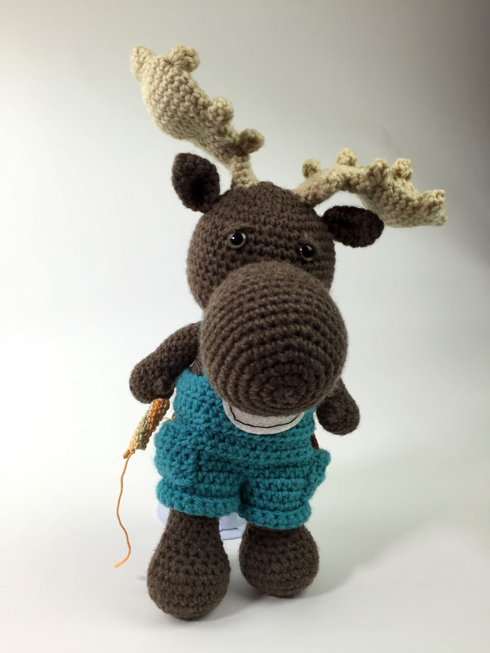 Crochet Moose Amigurumi by Nikki Baker