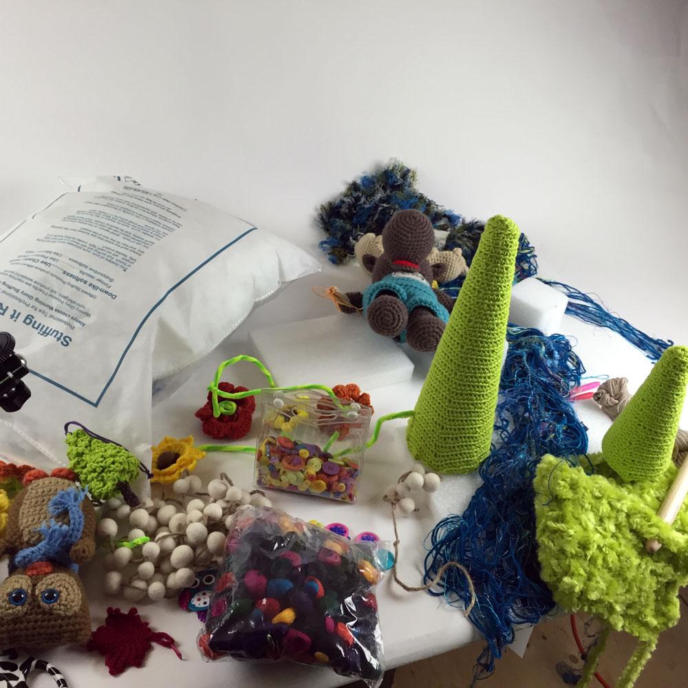 Making a Crochet Moose Diorama