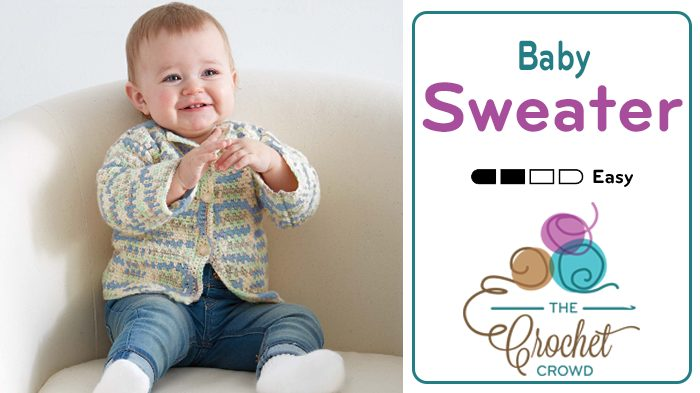 Easy Baby Cardigan The Crochet Crowd