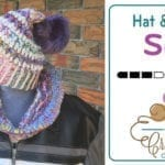 Crochet Wool Hat & Cowl + Tutorial