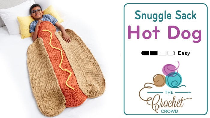 Crochet Hot Dog Snuggle Sack