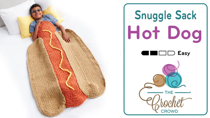 Crochet Hot Dog Snuggle Sack