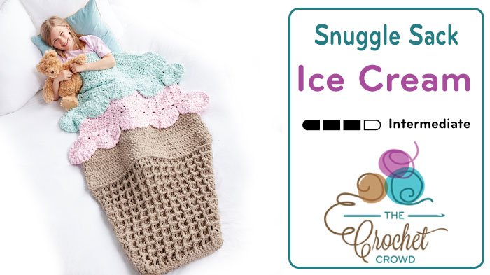 Crochet Ice Cream Snuggle Sack