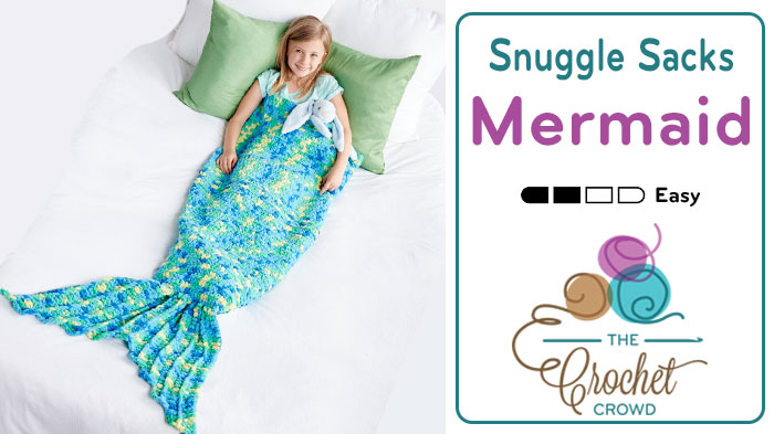 Crochet Mermaid Snuggle Sack