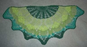 Pineapple Peacock Shawl crocheted by Lydia Murphy