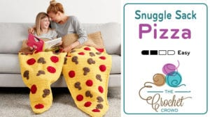 Crochet Pizza Snuggle Sack