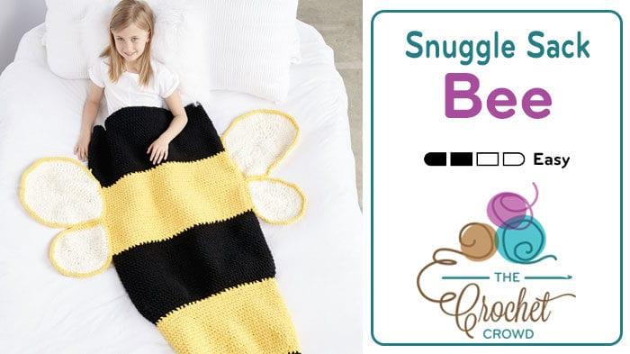 Crochet Bumble Bee Snuggle Sack