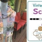Crochet Vintage Fan Ripple Scarf + Tutorial