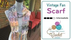 Crochet Vintage Fan Ripple Scarf
