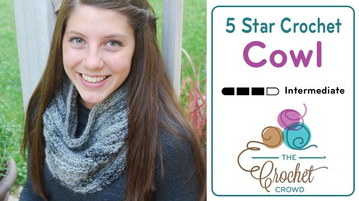 5 Star Crochet Cowl by Jeanne Steinhilber