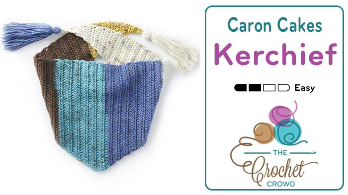Crochet Kerchief Featuring Caron Cakes Tutorial The Crochet Crowd