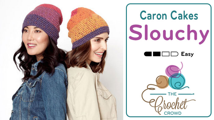 Crochet Beanie Slouchy Featuring Caron Cakes Tutorial The