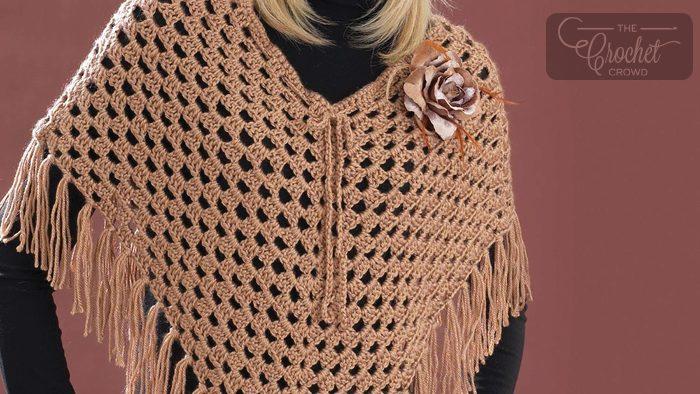 Crochet Cool Poncho Tutorial The Crochet Crowd