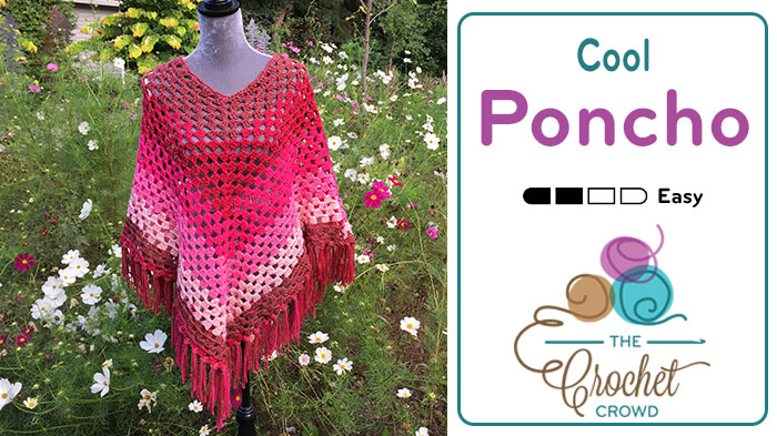 Crochet Cool Poncho + Tutorial - The Crochet Crowd®