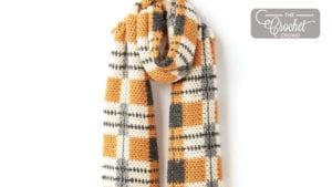 Crochet Big Tartan Scarf