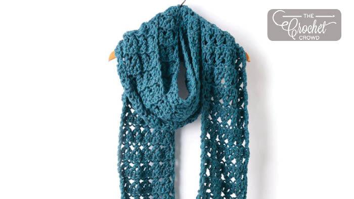 Crochet Crossing Paths Scarf Pattern + Tutorial