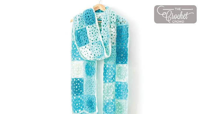 Crochet Patchwork Scarf Pattern